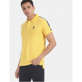U.S. Polo Assn. Men Casual Wear Yellow  Polo Shirt