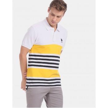 U.S. Polo Assn. Men Casual Wear Multicolor  Polo Shirt