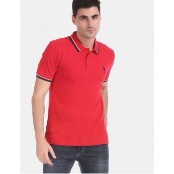 U.S.Polo Assn. Men Casual Wear Red T-Shirt