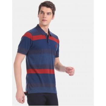 U.S.Polo Assn. Men Casual Wear Blue T-Shirt