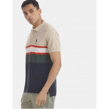 U.S. Polo Assn. Men Casual Wear Multicolor  Polo Shirt