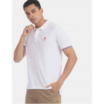 U.S. Polo Assn. Men Casual Wear White  Polo Shirt
