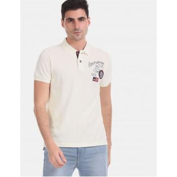 U.S. Polo Assn. Denim Co. Men Casual Wear White  Polo Shirt