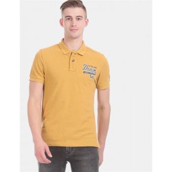 U.S. Polo Assn. Denim Co. Men Casual Wear Yellow  Polo Shirt