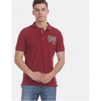 U.S. Polo Assn. Denim Co. Men Casual Wear Red  Polo Shirt