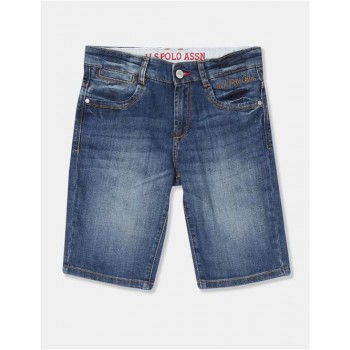U.S Polo Assn. Boys Solid Blue Shorts