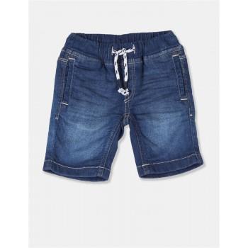 U.S. Polo Assn. Boys Washed Blue Shorts