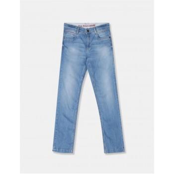 U.S. Polo Assn. Boys Solid Blue Jeans