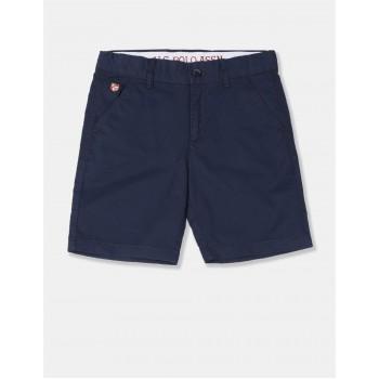U.S. Polo Assn. Boys Solid Blue Shorts