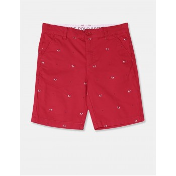 U.S. Polo Assn. Boys Printed Red Shorts