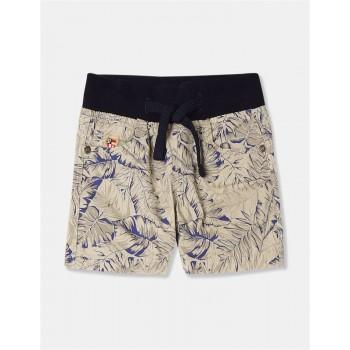 U.S. Polo Assn. Boys Printed Beige Shorts
