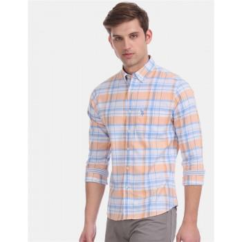 U.S. Polo Assn. Men Casual Wear Orange  Shirt