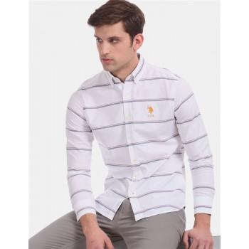 U.S. Polo Assn. Men Casual Wear White  Shirt