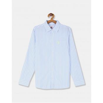 U.S. Polo Assn. Boys Striped Blue Shirt