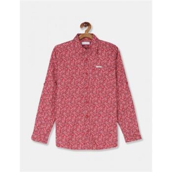 U.S Polo Assn. Boys Printed Red Shirt