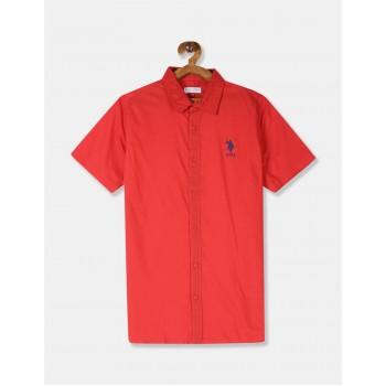 U.S. Polo Assn. Boys Solid Red Shirt