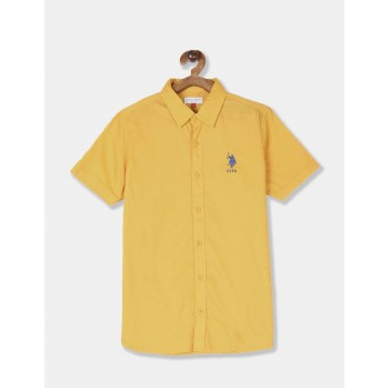 U.S. Polo Assn. Boys Solid Yellow Shirt