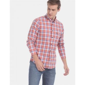 U.S. Polo Assn. Men Casual Wear Pink  Shirt