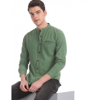 U.S. Polo Assn. Denim Co. Men Casual Wear Green  Shirt