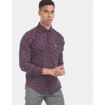U.S. Polo Assn. Denim Co. Men Casual Wear Brown  Shirt