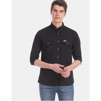 U.S. Polo Assn. Denim Co. Men Casual Wear Black  Shirt