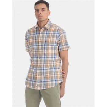 U.S. Polo Assn. Men Casual Wear Multicolor  Shirt