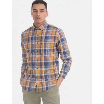 U.S. Polo Assn. Men Casual Wear Yellow  Shirt