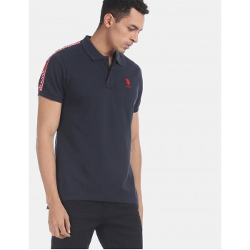 U.S. Polo Assn. Men Casual Wear Blue  Polo Shirt