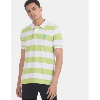 U.S. Polo Assn. Men Casual Wear Green  Polo Shirt