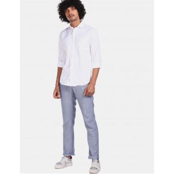 U.S Polo Assn. Men's Casual Wear White Shirt