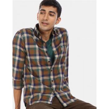 U.S Polo Assn. Men's Casual Wear Brown Shirt