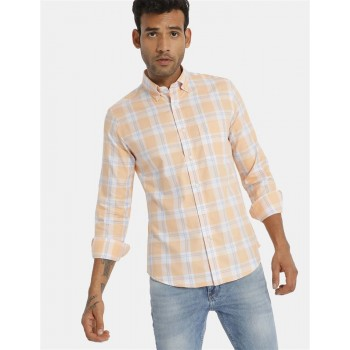 U.S Polo Assn. Men's Casual Wear Orange Shirt