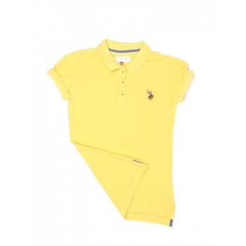 U.S. Polo Assn. Casual Wear Solid Girls T-Shirt