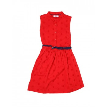 U.S. Polo Assn. Casual Wear Solid Girls Dress