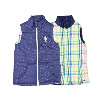 U.S. Polo Assn. Casual Wear Checkered Girls Jacket