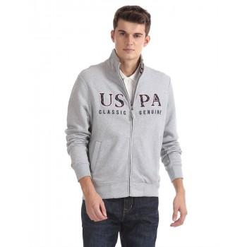 U.S. Polo Assn. Casual Wear Solid Men Sweatshirt