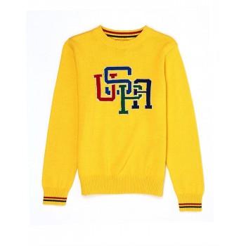 U.S. Polo Assn. Casual Wear Printed Boys Sweater