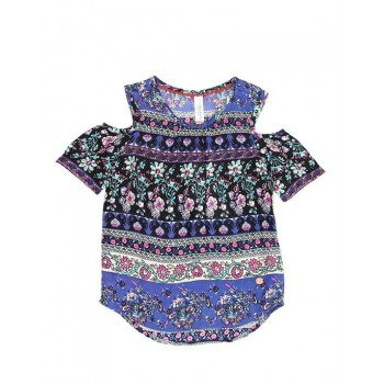 U.S. Polo Assn. Casual Wear Floral Print Girls Top