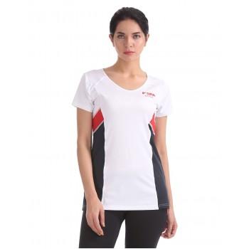 U.S. Polo Assn. Women White Sports Wear T-Shirt