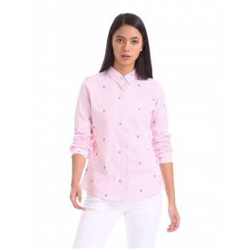 U.S. Polo Assn. Women Casual Wear Striped Shirt