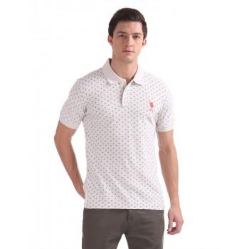 U.S.Polo Assn. Men Casual Wear Off White T-Shirt