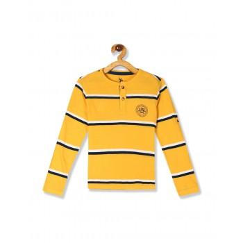 U.S. Polo Assn. Boys Casual Wear Striped T-Shirt