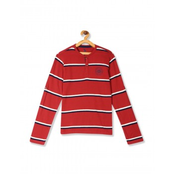 U.S. Polo Assn. Boys Striped Red T-Shirt
