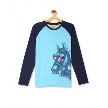 U.S. Polo Assn. Boys Casual Wear Printed T-Shirt