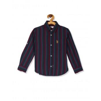 U.S. Polo Assn. Boys Casual Wear Striped Shirt