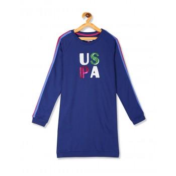U.S. Polo Assn. Girls Casual Wear Embellished Dress