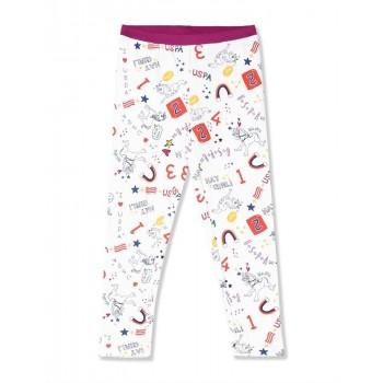 U.S. Polo Assn. Girls Printed White Legging