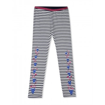 U.S. Polo Assn. Girls Casual Wear Striped Leggings