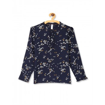 U.S. Polo Assn. Girls Casual Wear Printed Top