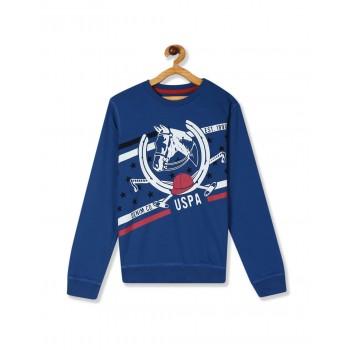 U.S. Polo Assn. Boys Casual Wear Printed Sweatshirt